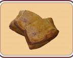 Пирог слоёный с мясом и капустой