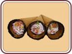 Рожок фруктовый со сливками